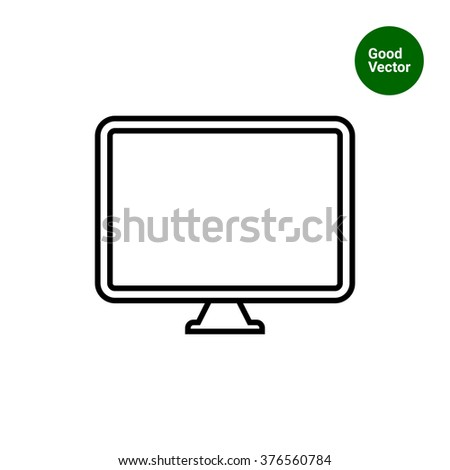 Computer monitor - stock vector