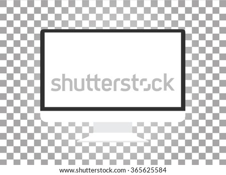 Computer monitor isolated - stock vector