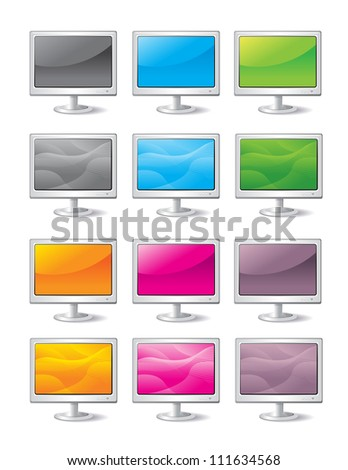 Computer Monitors - stock vector