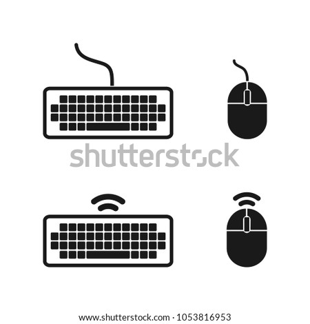 Computer Mouse Keyboard Icon Wireless Computer Stock Photo (Photo ...