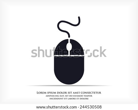 Computer Image Icon Computer Mouse Icon Stock