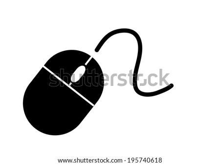 Computer Mouse Icon. Vector - stock vector