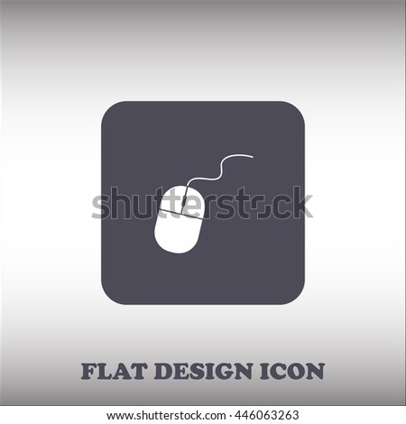 Computer mouse icon, vector illustration