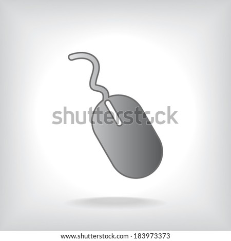 Computer mouse icon, vector illustration. Flat design style