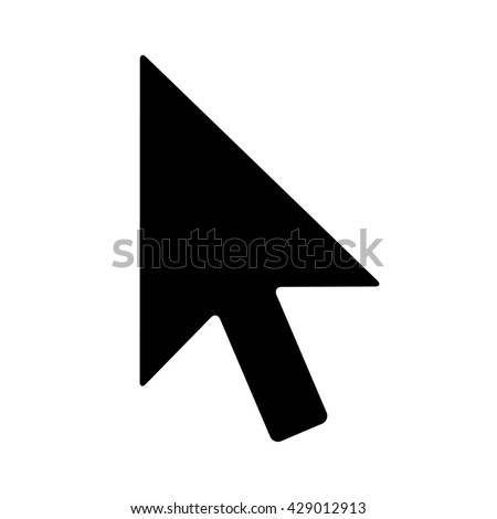 computer mouse pointer cursor arrow flat stock vector 429012913 rh shutterstock com mouse arrow vector download mouse pointer vector