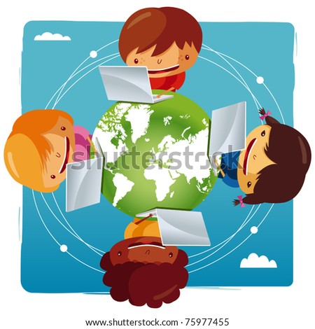 computer network - stock vector