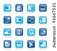 Computer Network and internet icons - vector icon set - stock vector