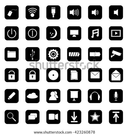 Computer/ Online - Digital Life icon computer                                               - stock vector