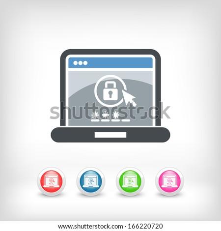 Computer password - stock vector