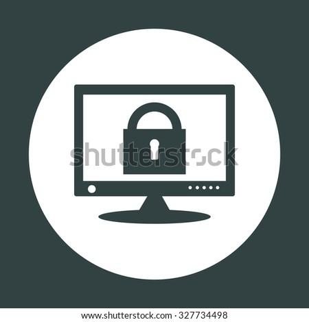 Computer security concept. icon. vector design - stock vector