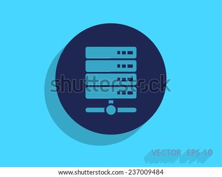 Computer Server icon, vector illustration - stock vector