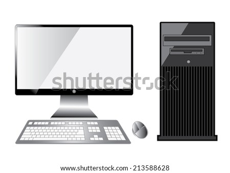 Computer server isolated on white background.