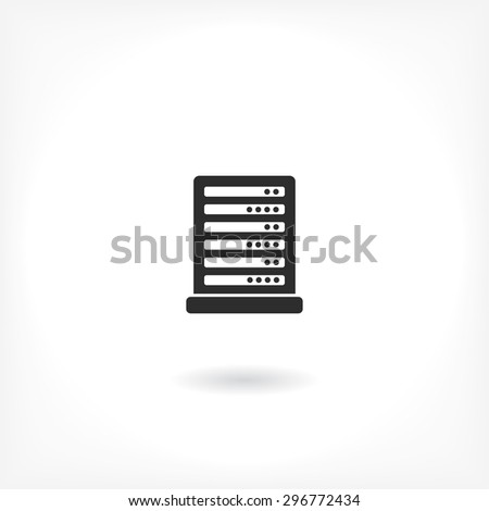 Computer Server. line vector icon - stock vector