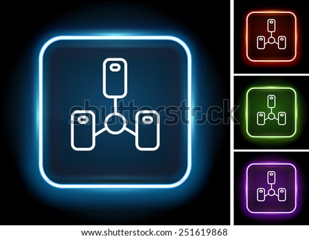 Computer Server on  Color Square Buttons