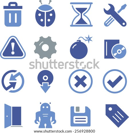 Computer software and Web icons.
