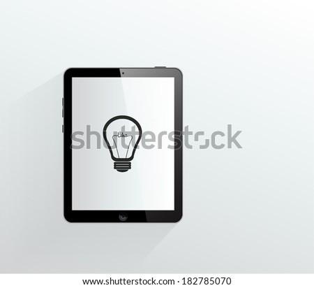 computer tablet - stock vector