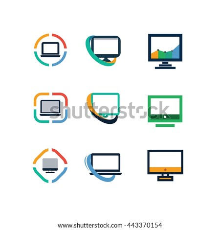 Computer Technology Office Network Logo Icon Vector
