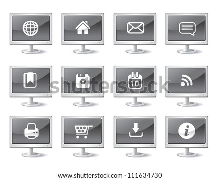 Computer Web Icons - stock vector
