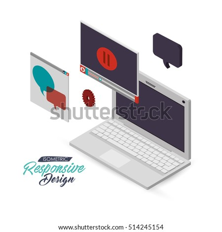 computer with internet related icons image