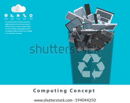 computing concept design. - stock vector