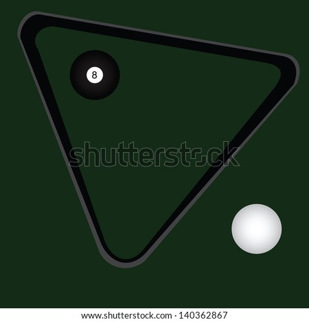 Conceived on a billiard room theme. End of the game. Vector illustration.