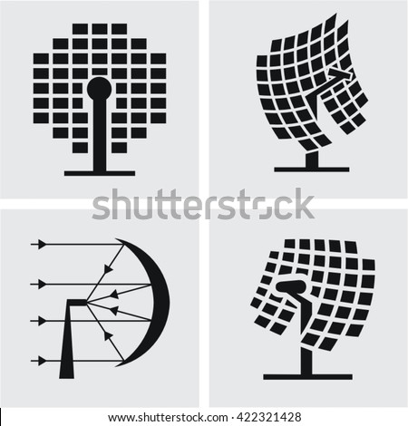 concentrated solar - stock vector