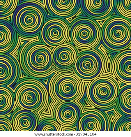 Concentric backgrounds - vector illustration