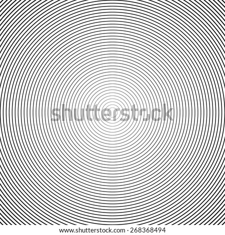 Concentric Circle Elements / Backgrounds. Abstract circle pattern. Black and white graphics. - stock vector