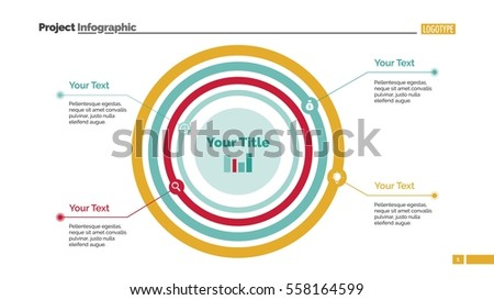 Concentric Circles Diagram Slide Template Stock Vector 2018