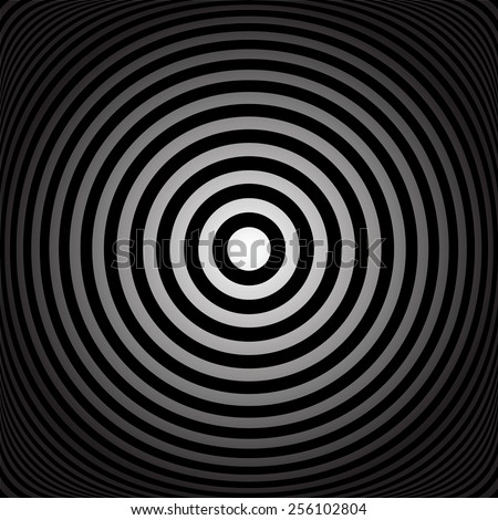 Concentric rings. Abstract circles texture. Vector art. - stock vector