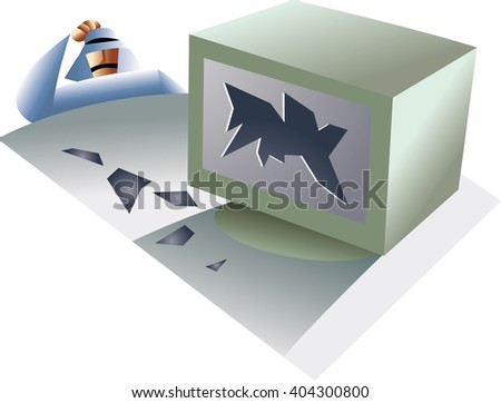 Concept about confused, clueless puzzled man thinking deeply about something, scratching head. Negative emotion facial expressions or feelings. - stock vector