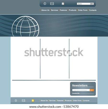 Concept and design web page layout template - stock vector