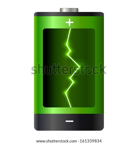Concept battery power. Vector illustration. - stock vector
