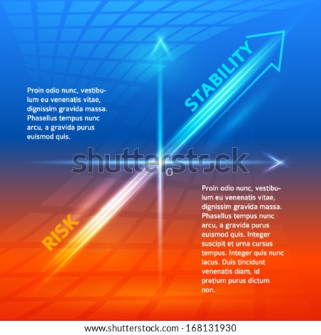 Concept business background. Abstract statistics chart. EPS 10. Vector illustration of vision perspective. Used opacity mask and transparency layers of background - stock vector