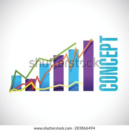 concept color graph sign concept illustration design over white