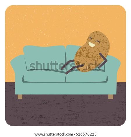 Couch zeichnung  Couch Potato Stok Görseller, Telifsiz Görseller ve Vektörler ...