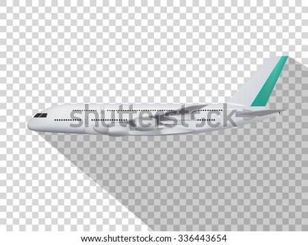concept design of vector,concept design of plane,plane on the transparent background,model of plane,cute design of plane. - stock vector