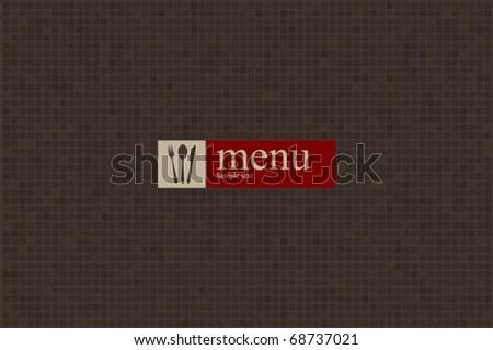 Concept design restaurant menu on minimal elements - stock vector