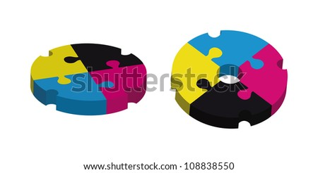 concept design with puzzle pieces - stock vector