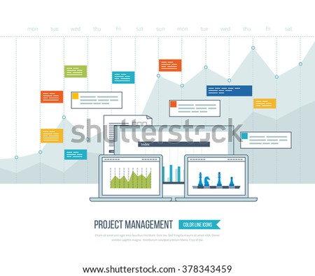 Concept Business Analysis Financial Report Investment Stock Vector