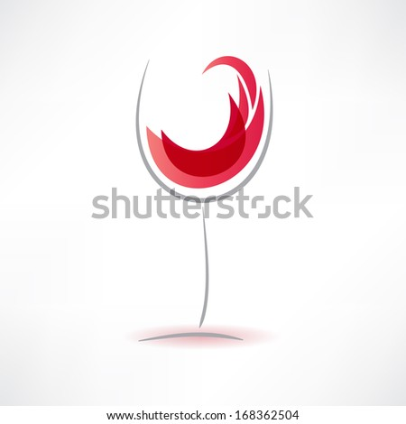 concept glasses with drink icon - stock vector