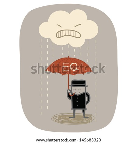 concept idea of businessman use EQ psychology in life and work - stock vector