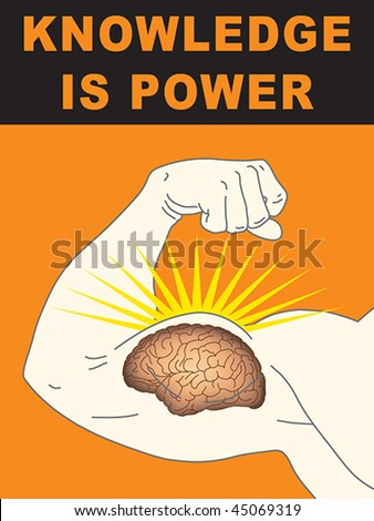Concept illustration of intelligence and strength - stock vector