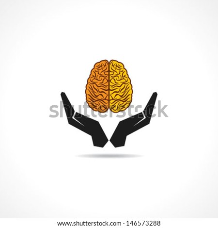 Concept illustration of protecting human knowledge - stock vector
