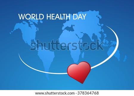 concept illustration World Health day - stock vector
