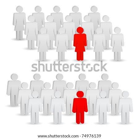 concept - leader of group - stock vector