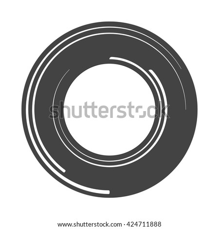 concept lens. Lines icon. Abstract technology circles logo vector background