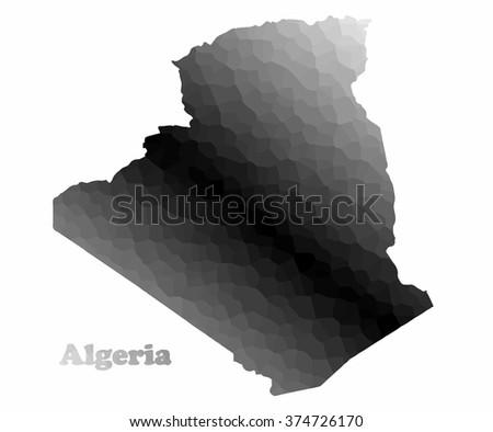 Concept map of Algeria, vector design Illustration. - stock vector