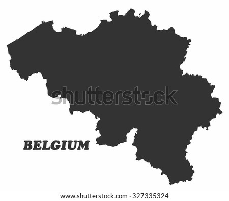 Concept map of Belgium, vector design Illustration. - stock vector