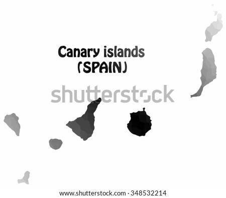 Concept map of Canary Islands, vector design Illustration. - stock vector